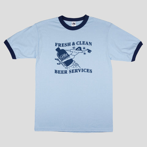 FRESH & CLEAN RINGER TEE POWDER BLUE & NAVY