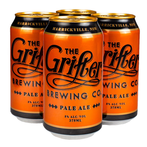 GRIFTER PALE 375ML CANS (4 PACK)
