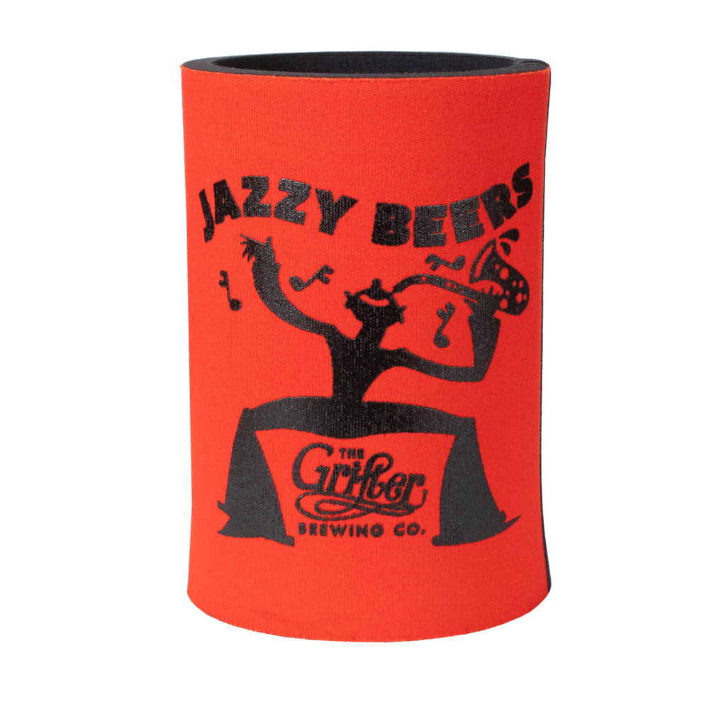 JAZZY BEERS STUBBY COOLER RED