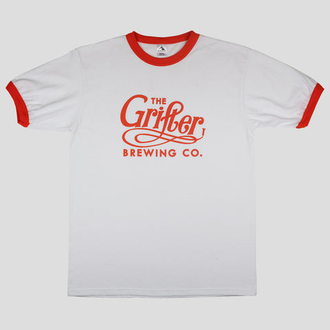 GRIFTER OG RINGER TEE WHITE & ORANGE