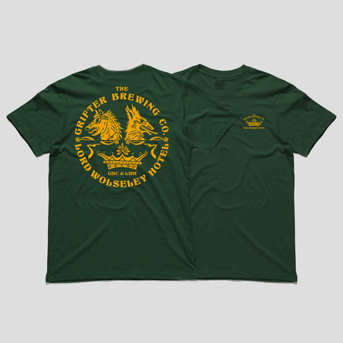 LORD WOLSELEY & GRIFTER TEE - FOREST GREEN