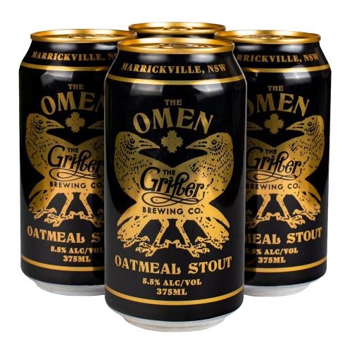 THE OMEN OATMEAL STOUT 375ML CANS (CASE OF 24)