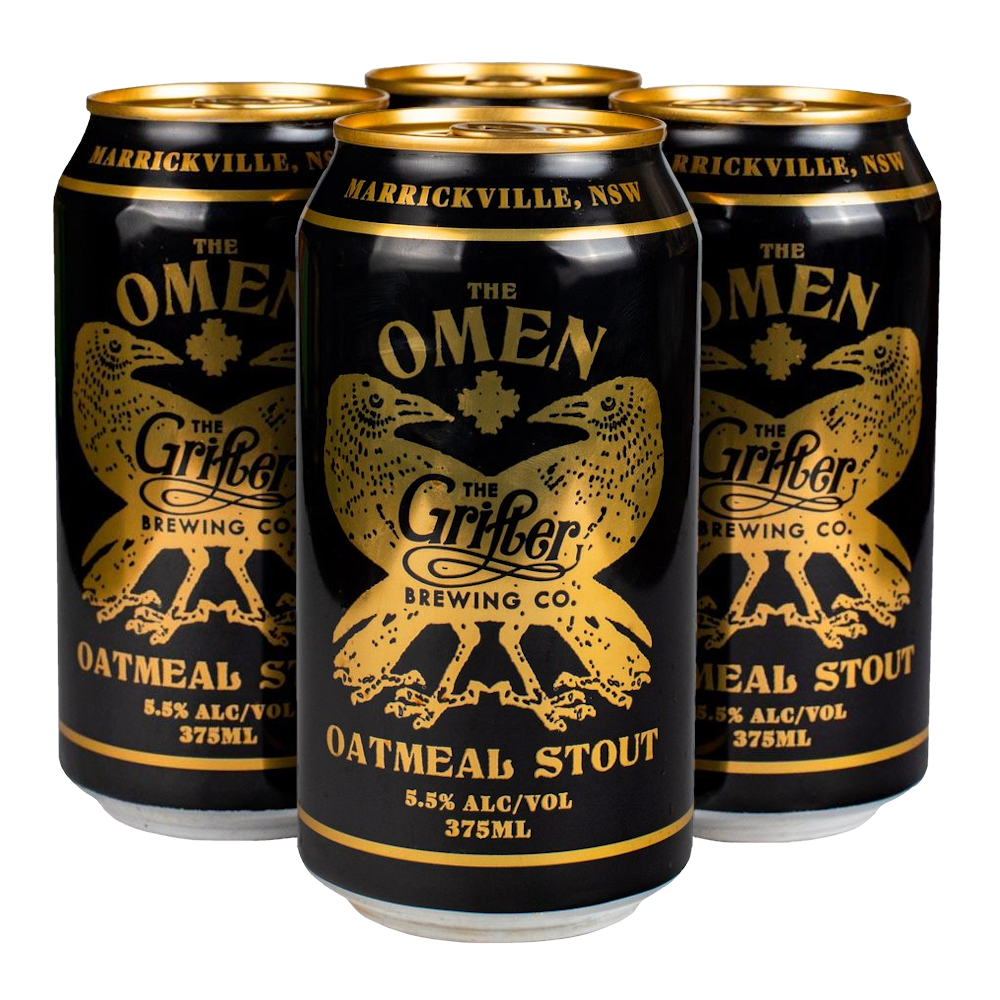 THE OMEN OATMEAL STOUT 375ML CANS (4 PACK)