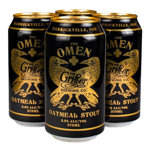 Load image into Gallery viewer, THE OMEN OATMEAL STOUT 375ML CANS (CASE OF 24)