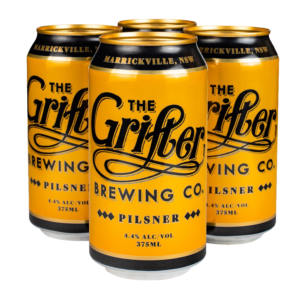 GRIFTER PILSNER 375ML CANS (4 PACK)