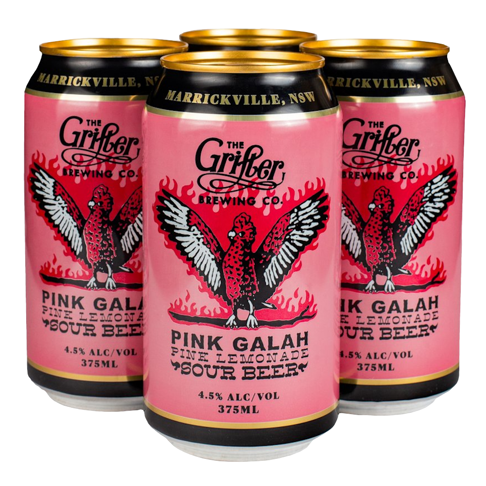 PINK GALAH PINK LEMONADE SOUR 375ML CANS (4 PACK)
