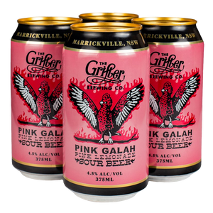 Load image into Gallery viewer, PINK GALAH PINK LEMONADE SOUR 375ML CANS (4 PACK)