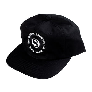 POOL~ROOM BLACK 5 PANEL CAP