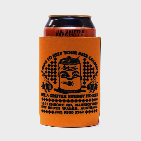 GRIFTER STUBBY COOLER ORANGE