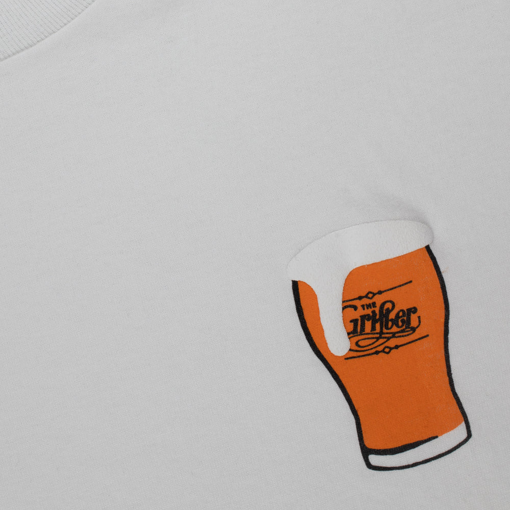 Load image into Gallery viewer, GRIFTER PUFF PRINT BEER - WHITE TEE