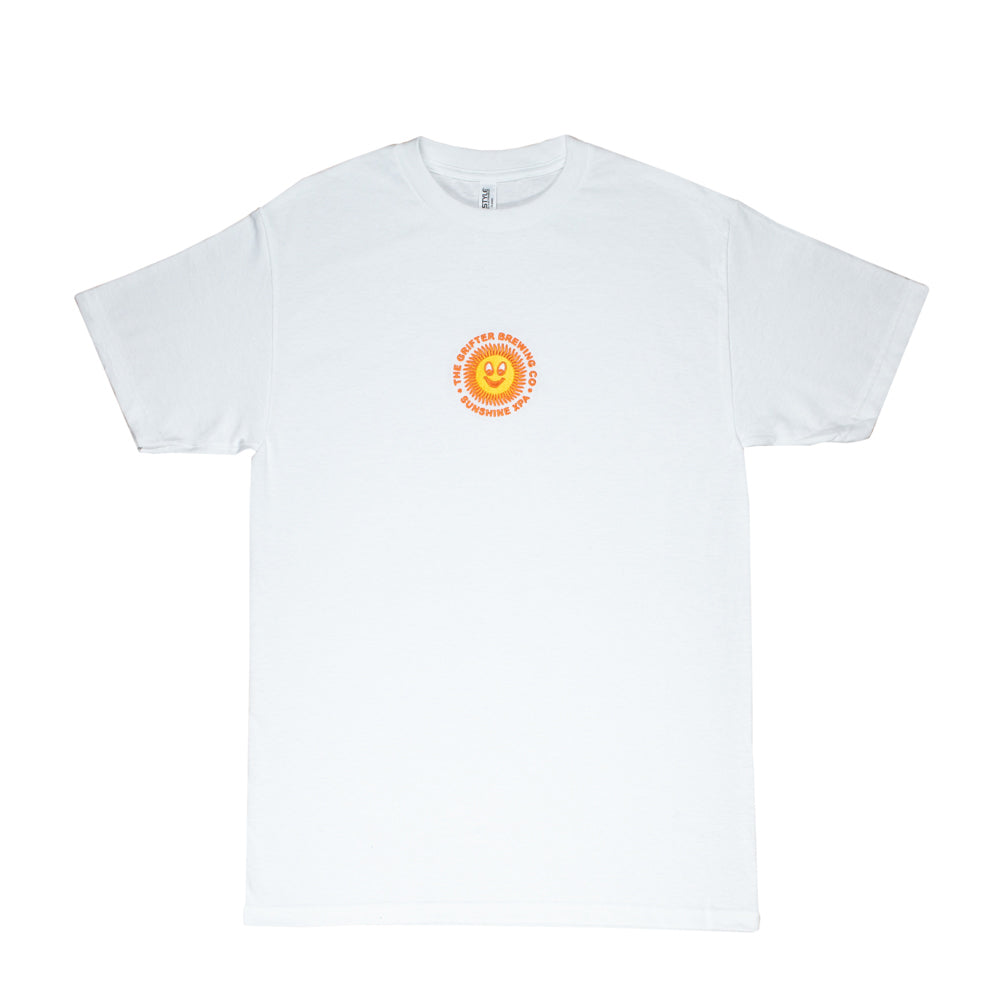 Load image into Gallery viewer, EMBROIDERED SUNSHINE XPA TEE WHITE