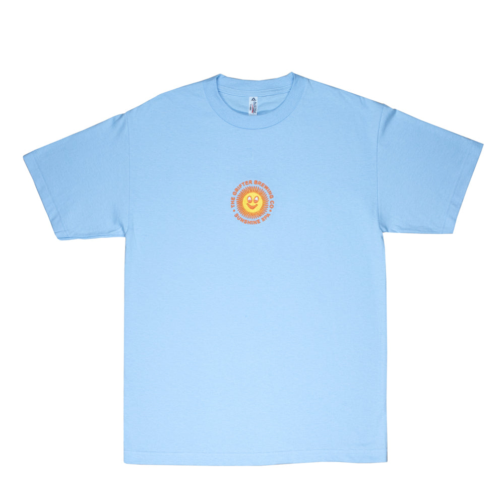 EMBROIDERED SUNSHINE XPA TEE BABY BLUE
