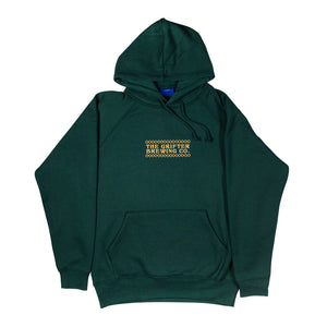 GREEN EMBROIDERED HOODY
