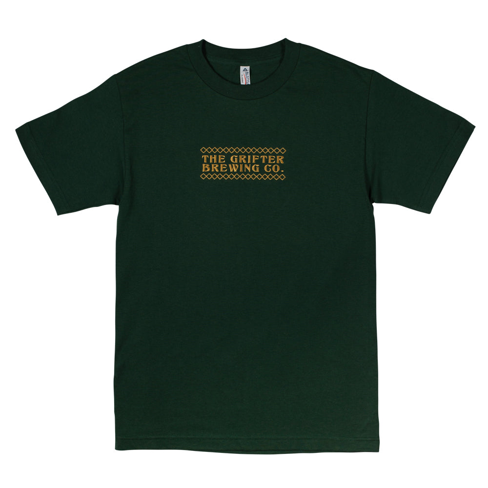 EMBROIDERED GRIFTER 'FORREST GREEN' TEE