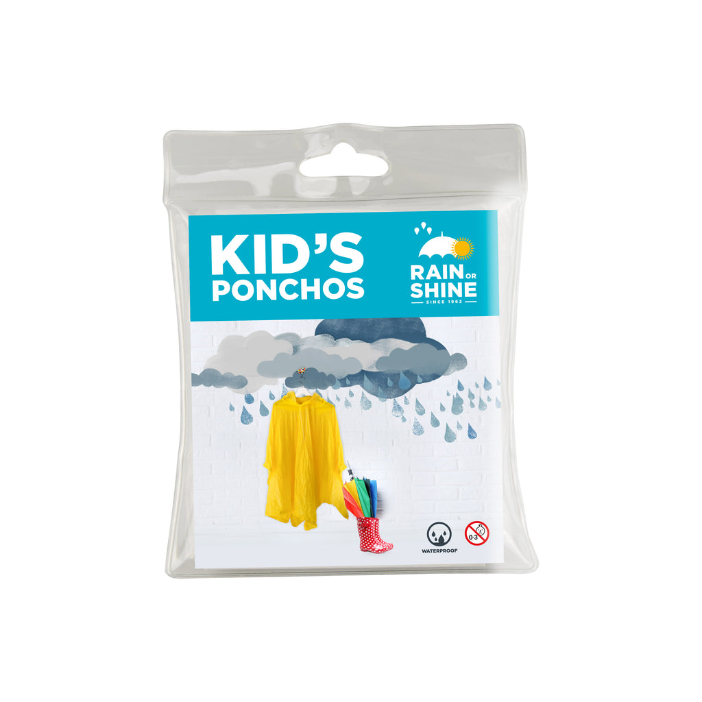 Child Rain Poncho - Yellow