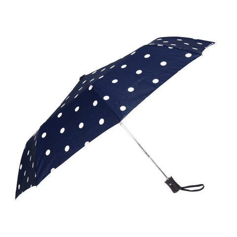Auto Open Umbrella - Black Pin Dot