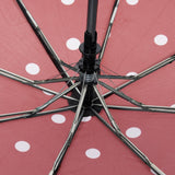 Auto Open Umbrella - Red Polka Dot