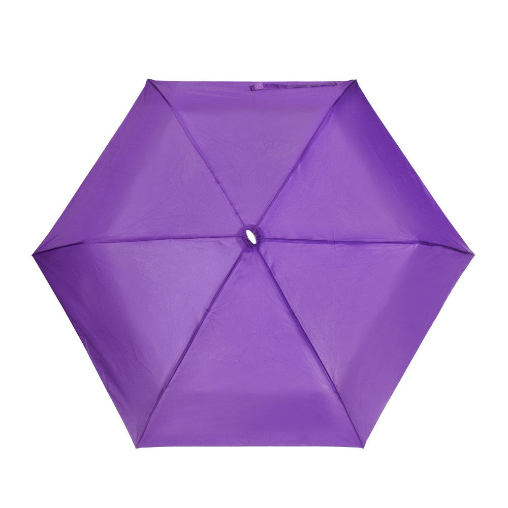 Flat Mini Manual Open Umbrella - Purple