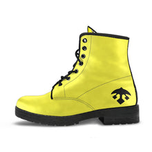 BUZZKILLA Yellow Leather Combat Boots