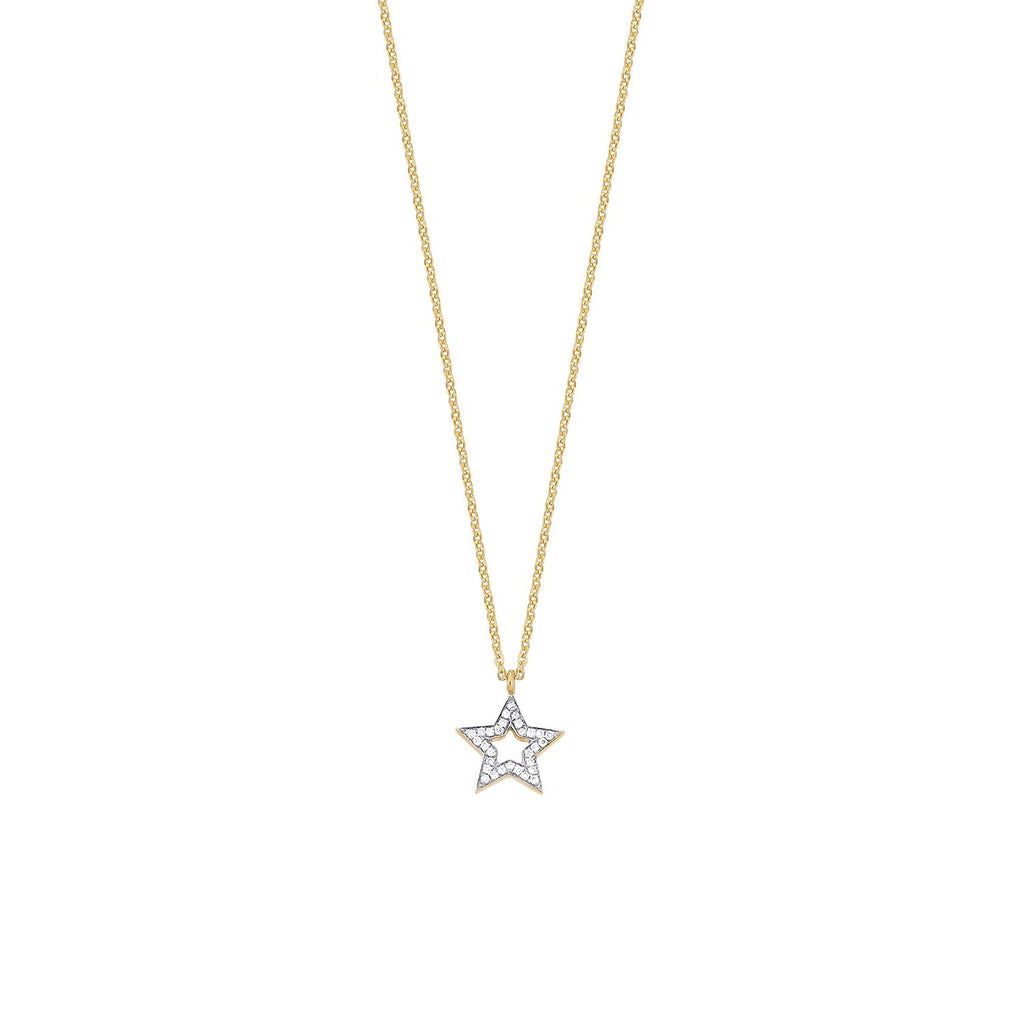 Open Star Diamond Necklace ( 2 Colors )
