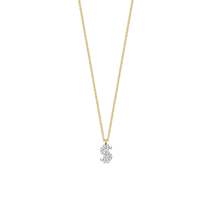 Dollar sign Diamond Necklace