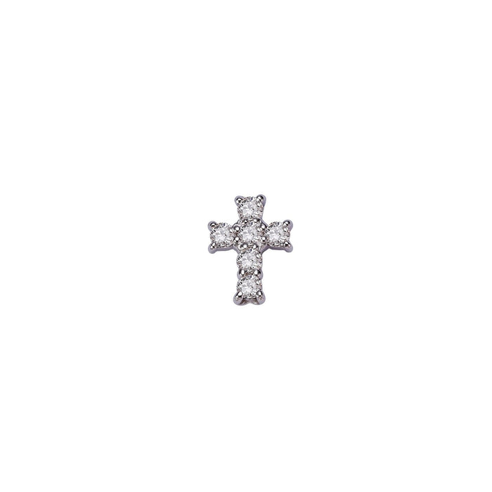 CROSS DIAMOND SINGLE EARRING