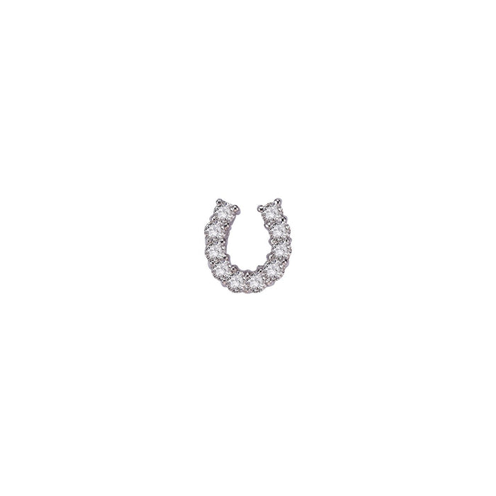 HORSESHOE DIAMOND SINGLE EARRING