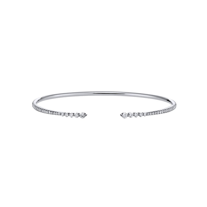 TWIST DIAMOND BANGLE-WHITE GOLD