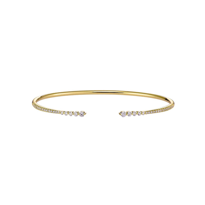 TWIST DIAMOND BANGLE - YELLOW GOLD