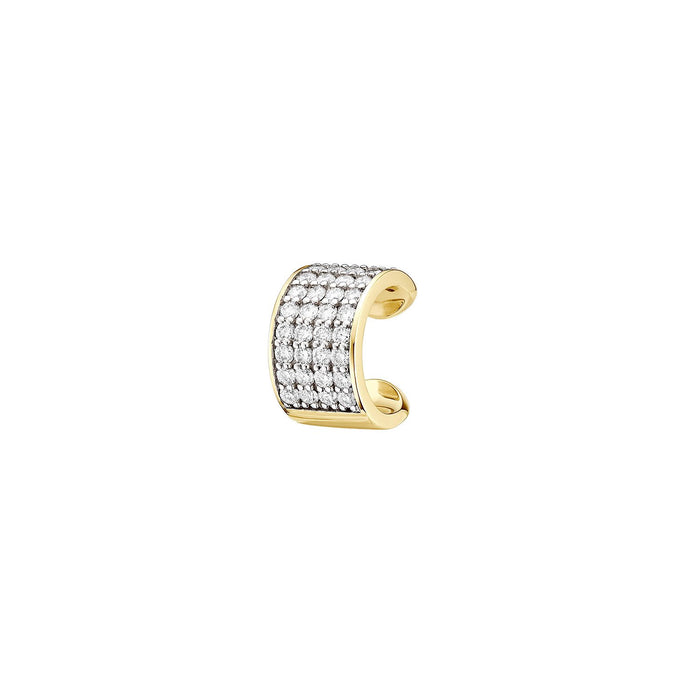 Diamond Pave 4 Row Single Ear Cuff ( 2 COLORS )