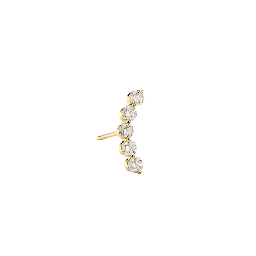 Pea Diamond Single Earring ( 2 Colors )