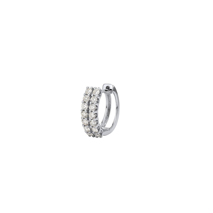 No.12 Diamond Double Hoop Single Earring