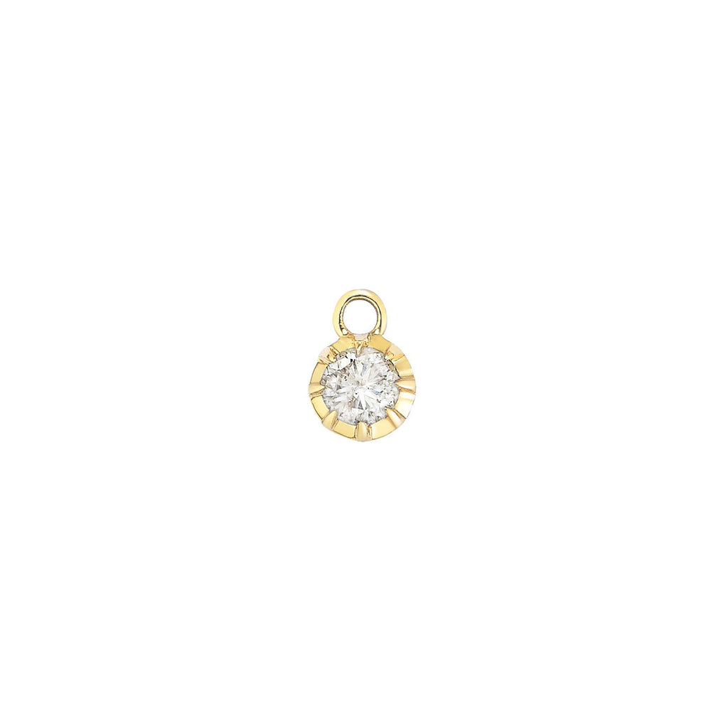 Small Bezel Diamond Earring Pendant