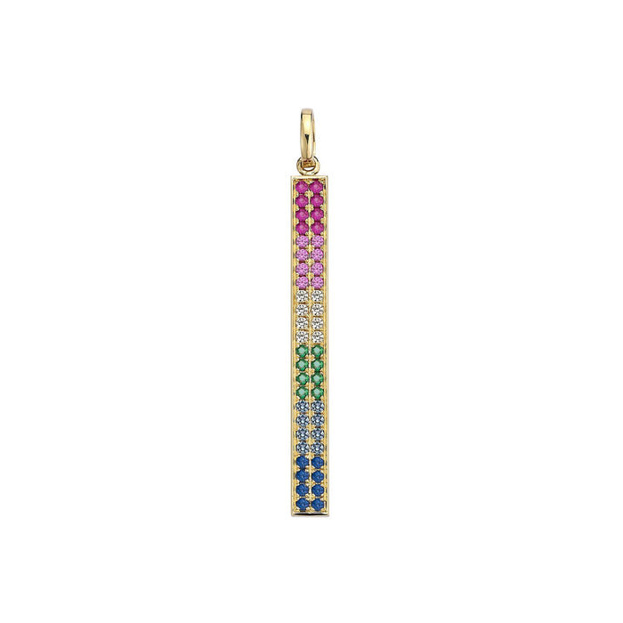 Gemstone Rainbow Pave Stick
