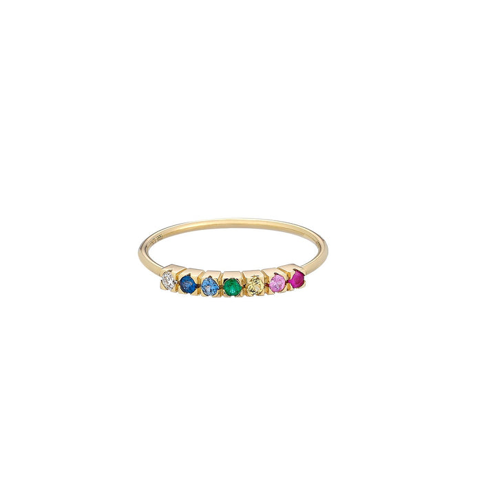 Band Rainbow Gemstone Ring