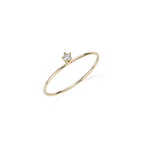 Delicate Solitaire Diamond Ring