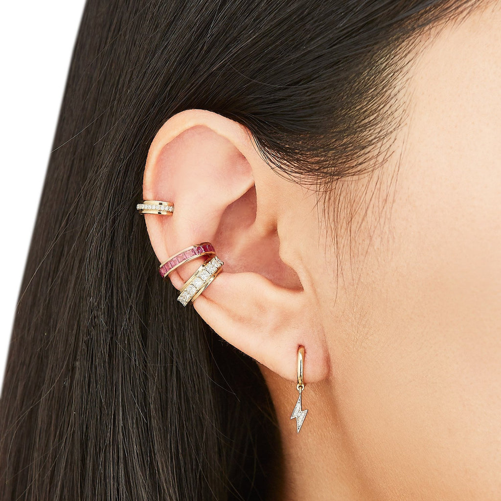 Prong-Set Diamond Single Ear Cuff
