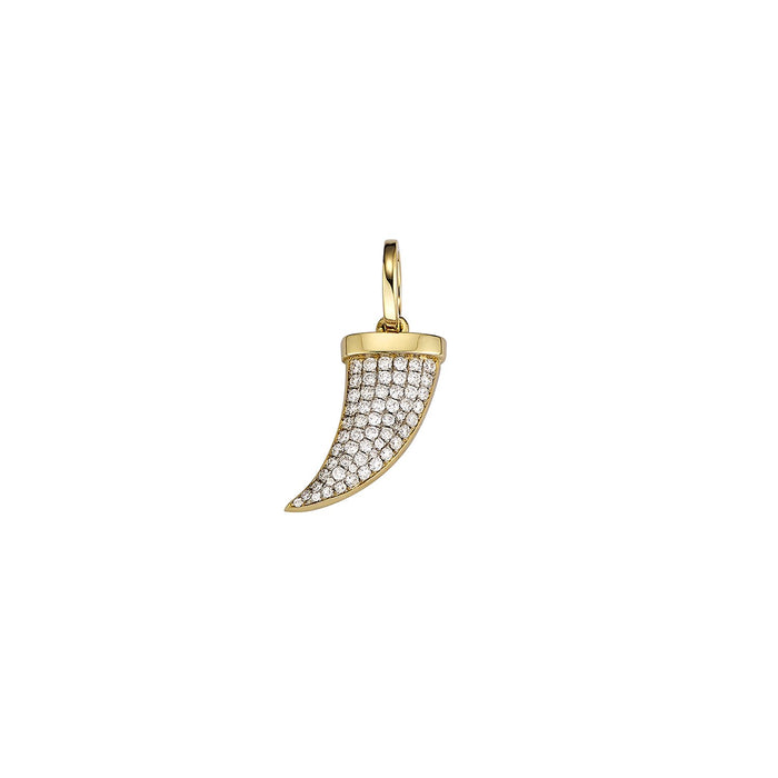 Gold Pave Horn Charm