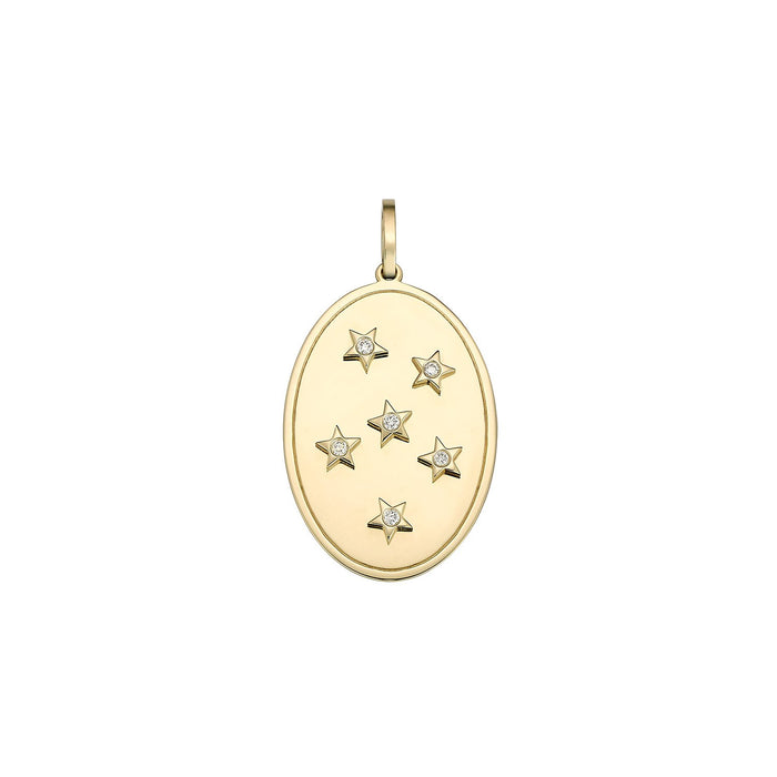 Oval Star Diamond Charm