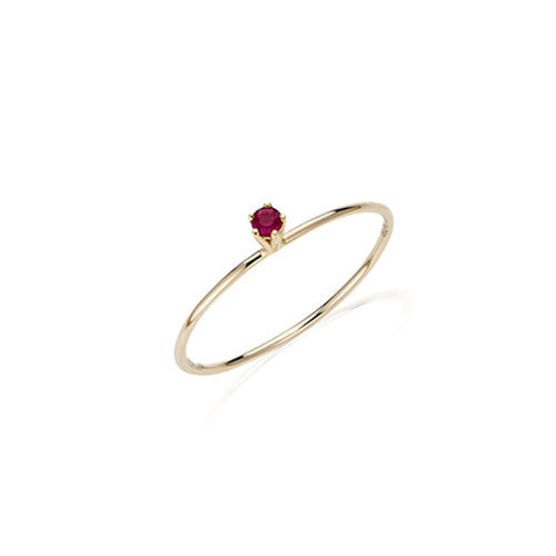 Delicate Solitaire Ruby Ring
