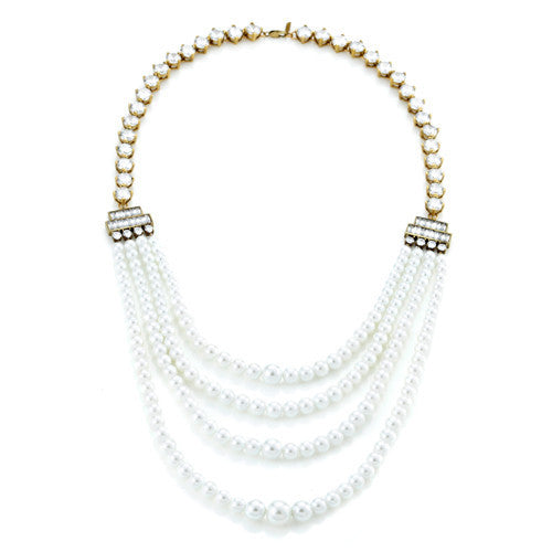 Pearl Bead Layered Necklace