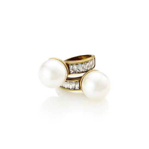 Floating Pearl Wrap Ring