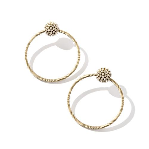 Janice  Earrings - Gold Brass