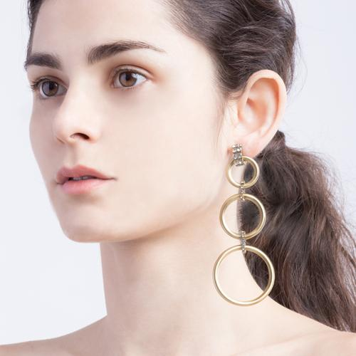 Camilla  Earrings - Gold Brass