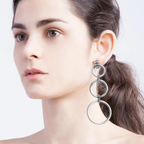 Camilla  Earrings - Antique Silver