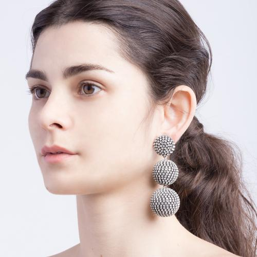 Samantha  Earrings - Antique Silver