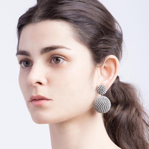 Sammi  Earrings - Antique Silver