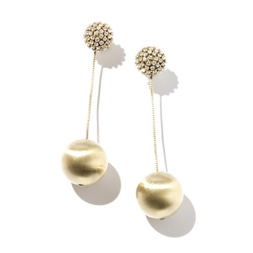 Diana  Earrings - Gold Brass