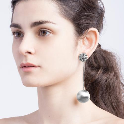 Diana  Earrings - Antique Silver