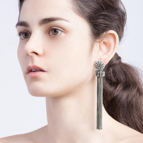 Donna  Earrings - Antique Silver